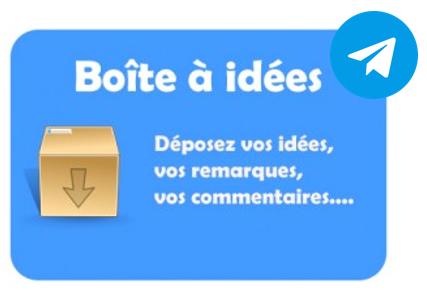 Boîte à idées Telegram
